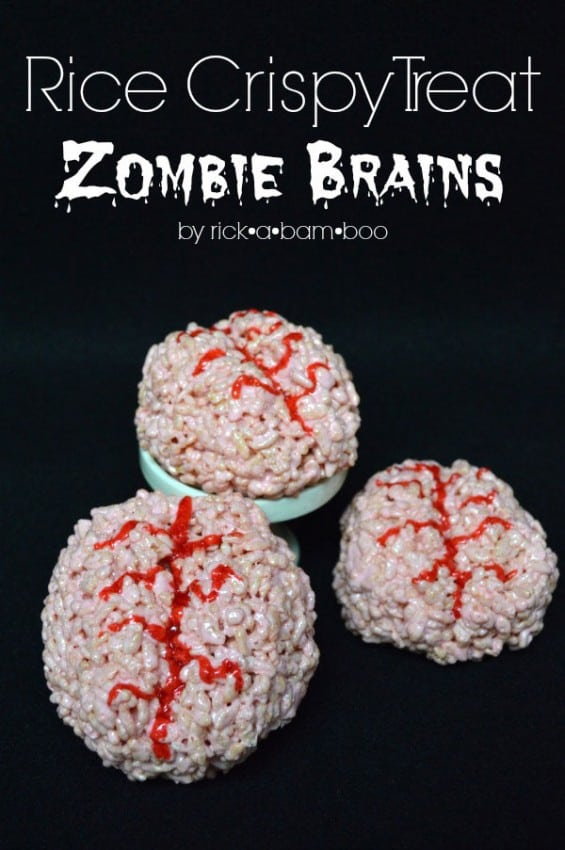 Zombie Brain Rice Krispie Treats by Amber Simmons