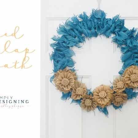 Tied Burlap Wreath