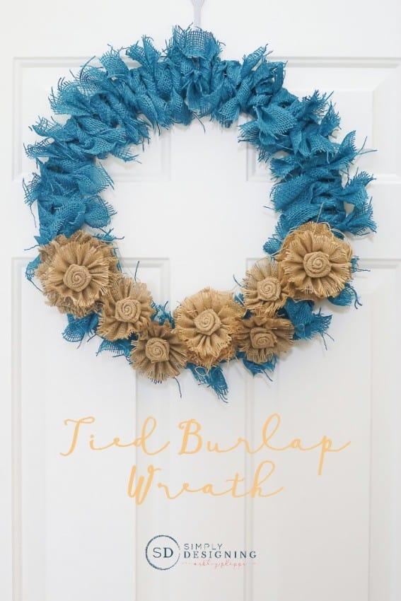 tied-burlap-wreath