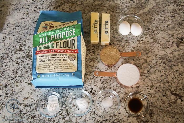 Sugar Cream Pie Cookies - ingredients