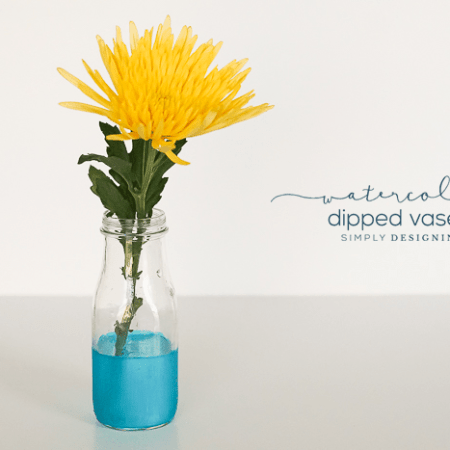 DIY Watercolor Dipped Vases