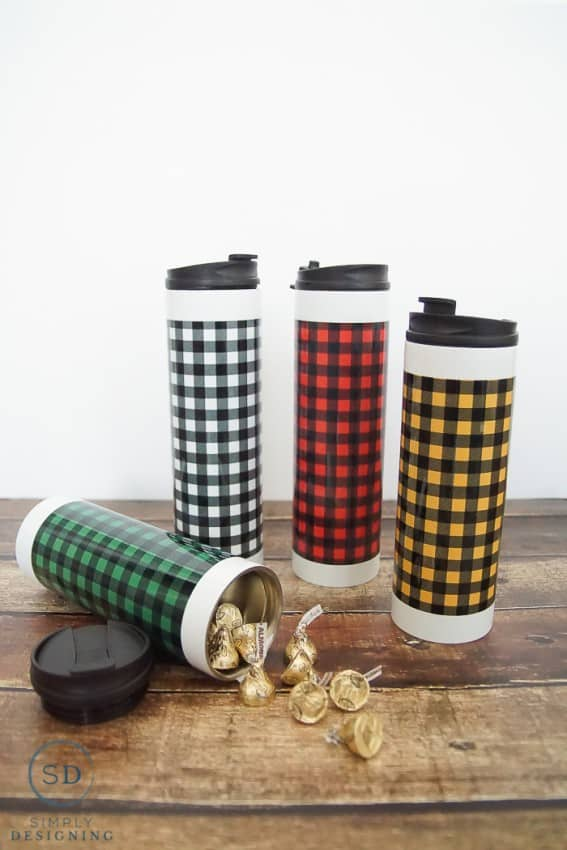 Buffalo Check Stainless Steel Water Bottles