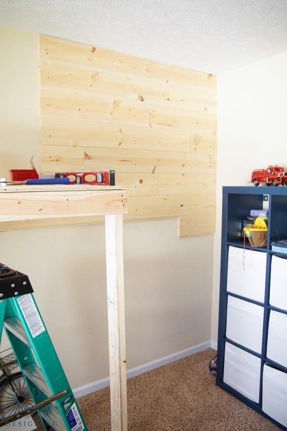 Install Shiplap Style Wall