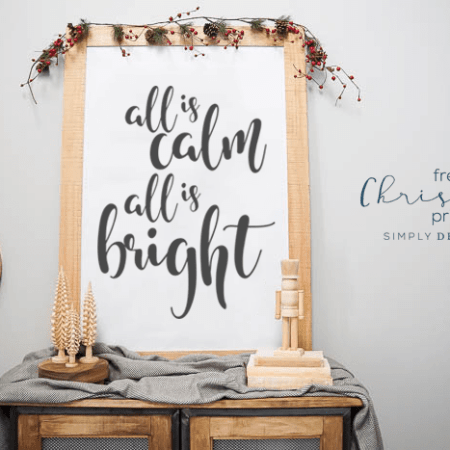 All Is Calm All Is Bright Print - Free Holiday Print