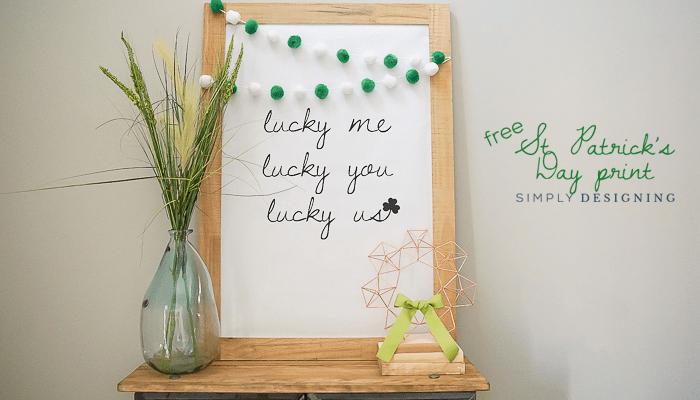 Large St Patricks Day Print : Love Me Love You Love Us