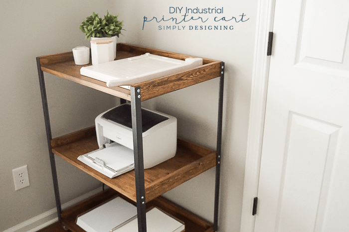 DIY Printer Table With An Industrial Style To Give Your