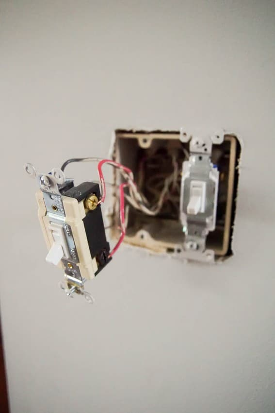 remove old light switch