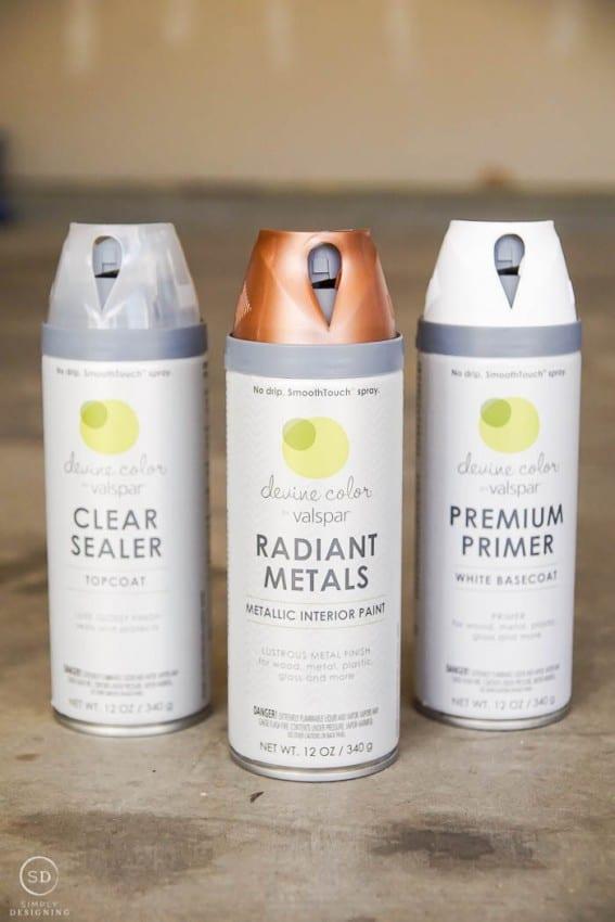 metallic spray paint devine