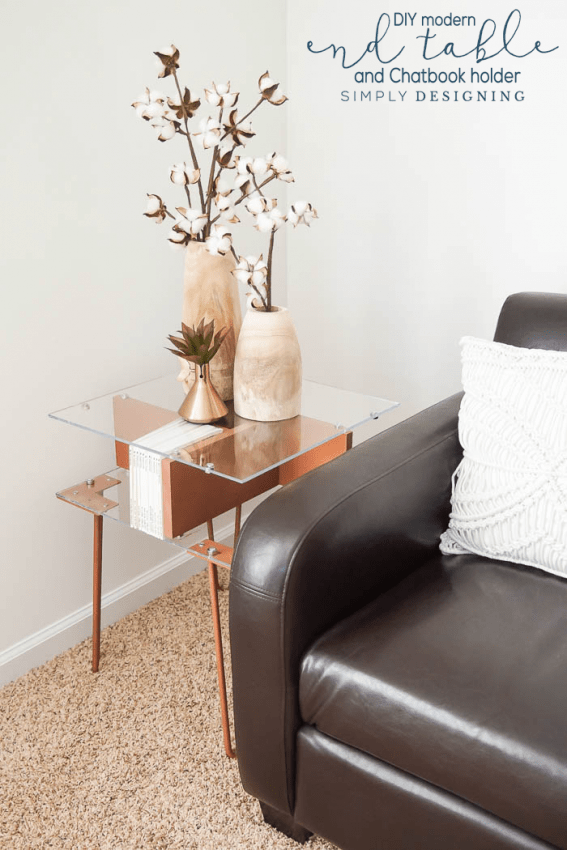DIY Modern End Table and Chatbook Holder