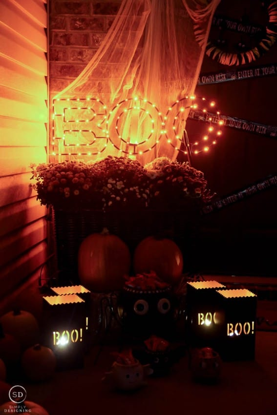 Halloween Porch at Night