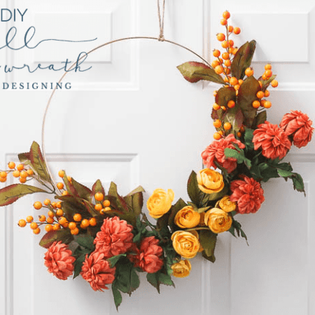 How to make a Fall Hoop Wreath