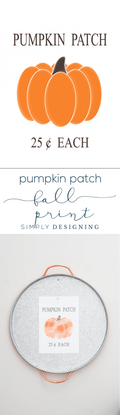 Pumpkin Patch Free Fall Print - Simply Designing