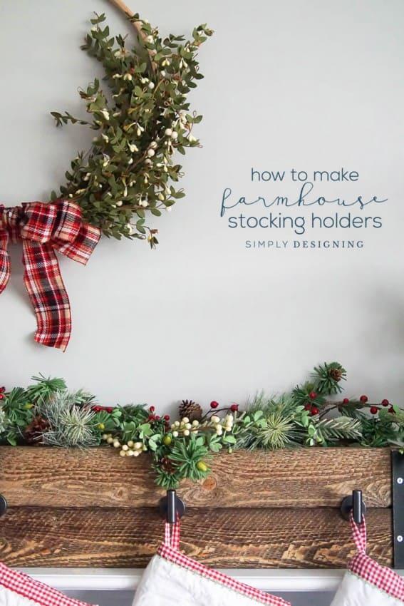 How to make Farmhouse Stocking Hanger Box