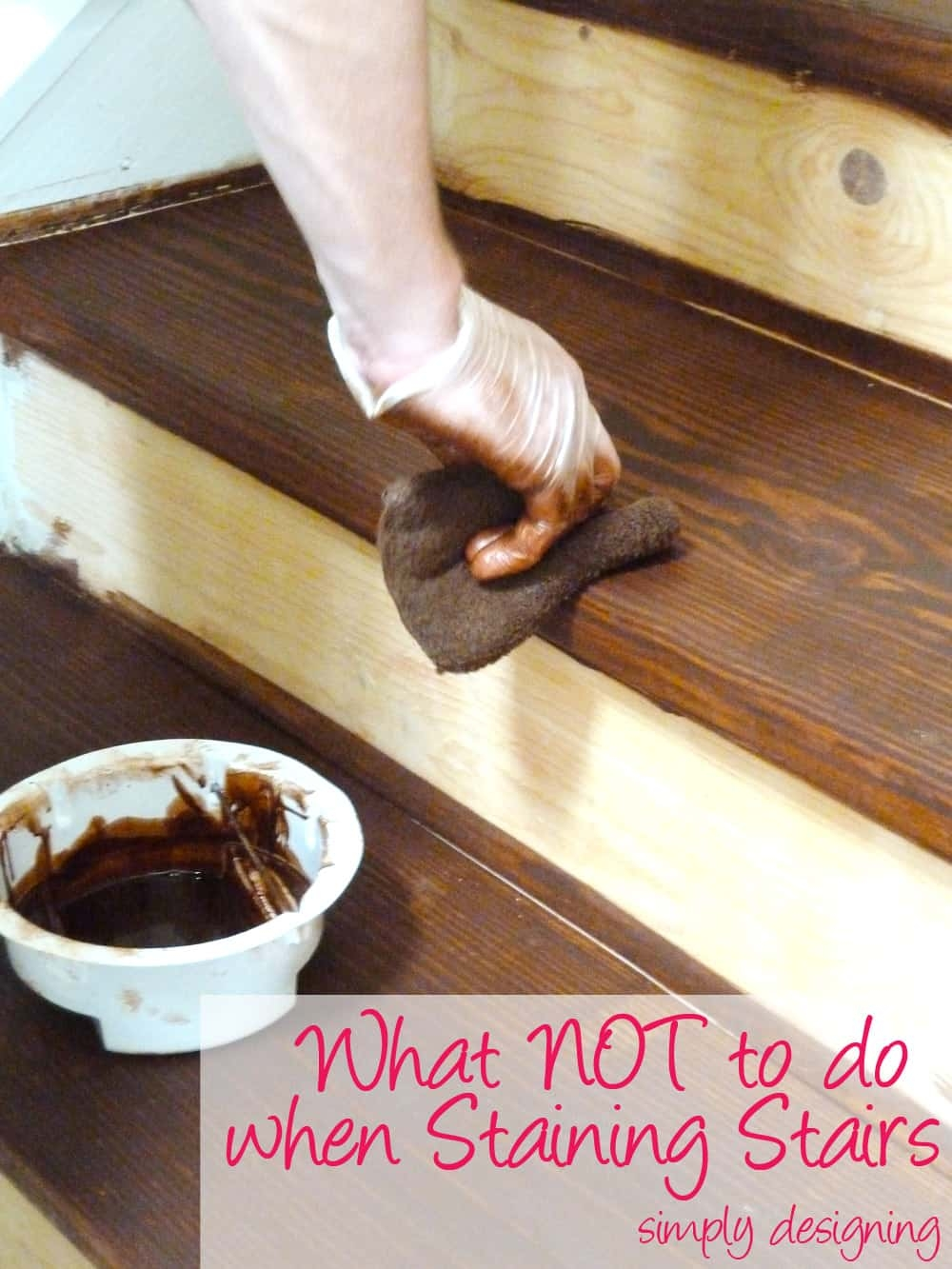 Staircase Make Over Part 2 Mistakes To Avoid And How To Do It Right | Knotty Pine Stair Railing | Tongue Groove | Antique Wooden Stair | Log | White | Newel Post