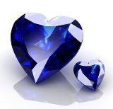 Heart shaped sapphires