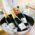 Champagne for wedding celebration