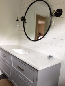 ideas and inspiration - bathroom mirror and fiztures