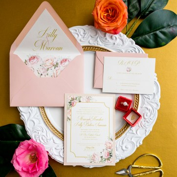 Floral Blush Wedding Invitation
