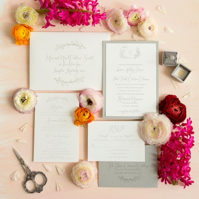 Custom Designed Wedding Invitations