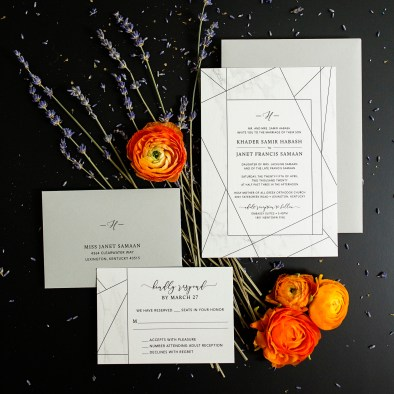 Custom Designed Wedding Invitations Modern