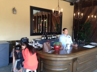 Rutherford Hill dog friendly wineries outdoor bar simply driven