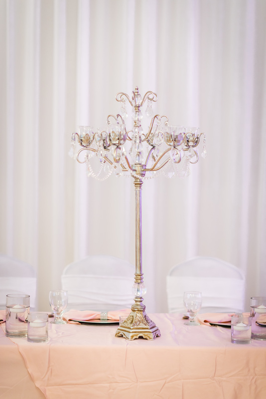 Table candelabra centerpieces wedding rentals