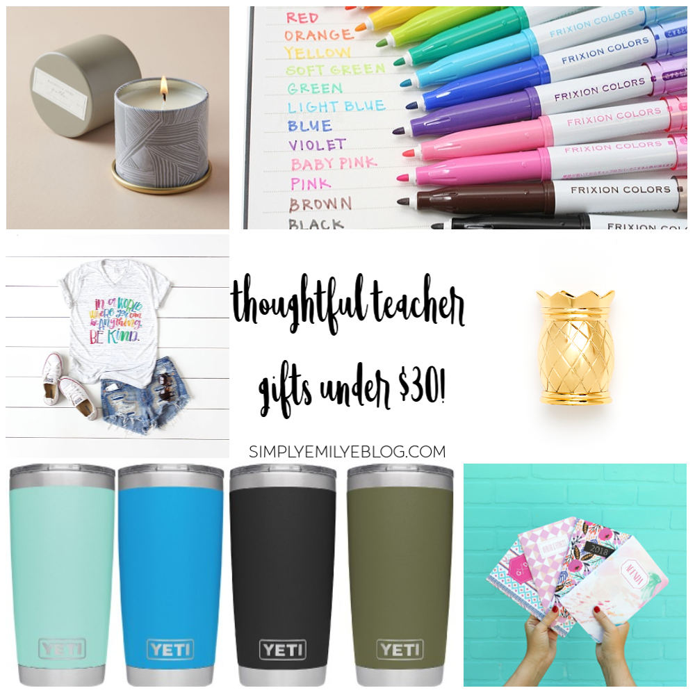 Teacher Gift Ideas Under 30 Dollars Simply Emily E Blog