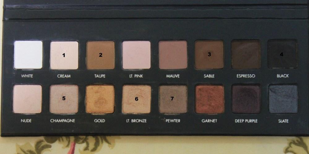 LORAC Pro palette : Bronzed Pewter Eye Look (1/3)