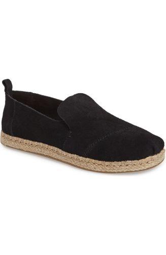 More solid black espadrilles for your transition. http://shop.nordstrom.com/s/toms-classic-espadrille-slip-on-women/4504499?origin=keywordsearch-personalizedsort&fashioncolor=BLACK