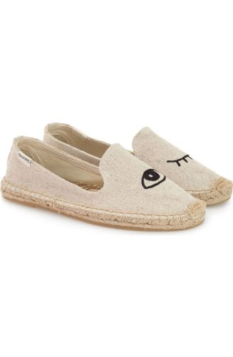 Espadrilles are still here and we are loving it. This look just brings out the best summer vibes. http://shop.nordstrom.com/s/soludos-jason-polan-espadrille-sandal-women/4186084?origin=keywordsearch-personalizedsort&fashioncolor=WINK%20SAND