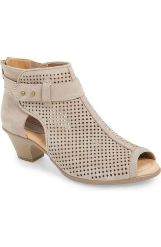 These peep-toe booties are the best way to make your transition smoothly. Ready to be worn in any weather, these shoes can take you from warm days during the end of winter all the way to the cool nights of Spring. http://shop.nordstrom.com/s/earth-intrepid-peep-toe-bootie-women/4169109?origin=category-personalizedsort&fashioncolor=TAUPE%20SOFT%20NUBUCK%20LEATHER