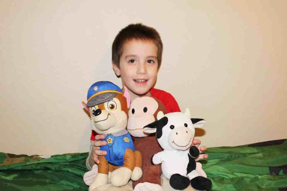 Keeping stuffed animals in their rooms is a boundary that helps us save time and chaos.