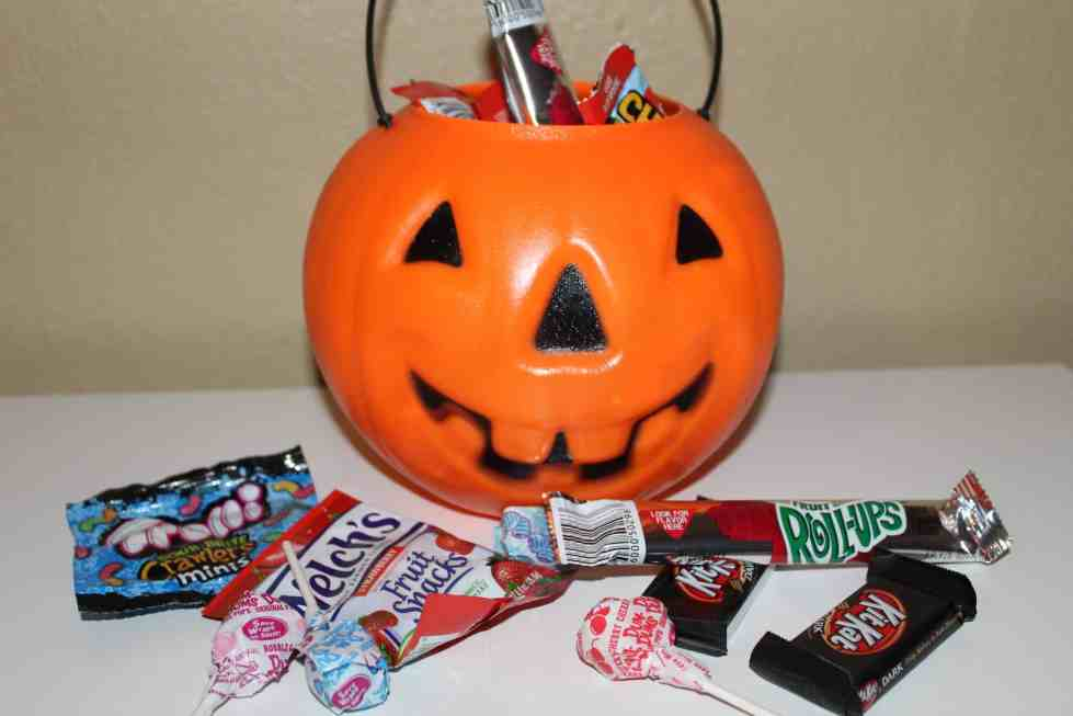 Use halloween candy in your child's stocking