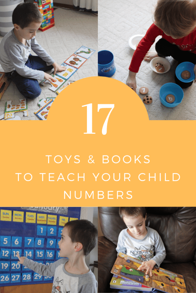 17 Toys & Books to Teach Numbers to Your Child #parenting #numberrecognition #taechingnumbers #teachnumbers1-100