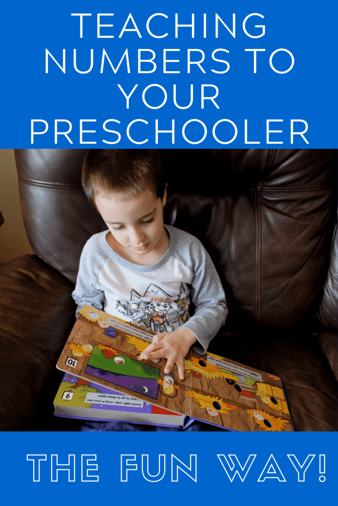 Teaching Numbers to Your Preschooler - the FUN way!  17 ideas to help your child learn their numbers!  #preschool #learnnumbers #numberrecognition