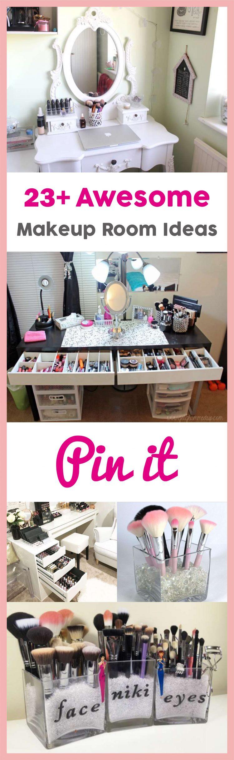 23+ DIY Makeup Room Ideas, Organizer, Storage and Decorating on Makeup Room Ideas  id=95037