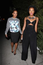 Eva Marcille dines out with boyfriend Kevin McCall and 'Basketball Wives LA' star Sundy Carter at Mr. Chow's in Los Angeles