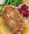 Pumpkin Seed-Panko crusted Chicken Breast with Butternut Squash sauce