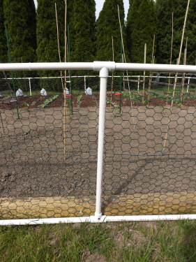 Building A Garden Fence With PVC Pipe Simply Grateful