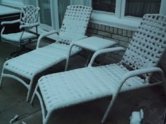 Lounge chairs on the patio