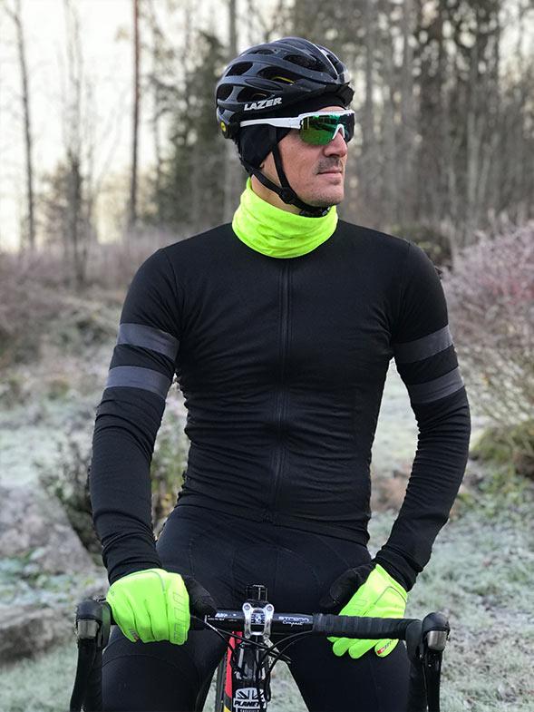 Cyklist med Grib Grab