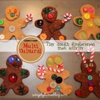 Multi-Cultural Playdough Gingerbread Men