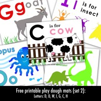 Free Printable Letter Play Dough Mats (set 2)