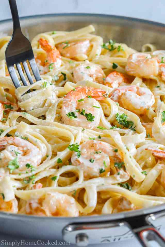 Shrimp Alfredo Pasta - Simply Home Cooked
