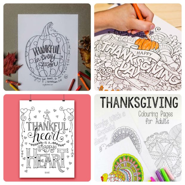 Free Thanksgiving Coloring Pages for Adults