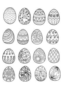 Just Color Has Several Zentangle Inspired Pages With Easter Themes I Love The Idea Of Coloring Eggs And Cutting Them Out To Make A Garland Or Place
