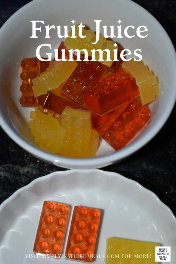 Fruit Juice Gummies by Simply Inspired Meals.  #FoodNFlix, #LegoMovieFood, #fruitgummies, #candies, #gummies, #treat, #fruitjellies #jellies