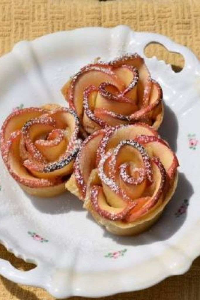 Beauty and the Beast Rose Apple Tart