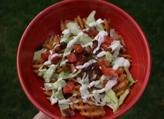 BLT Waffle Fries by Simply Inspired Meals.