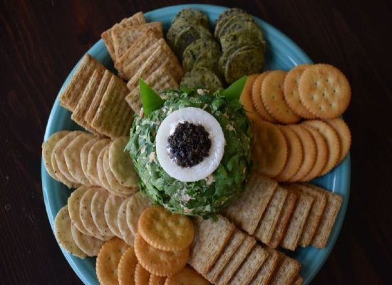 Monster's Inc. Cheese Ball by Simply Inspired Meals.